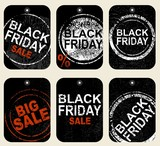 Set of tags. Black Friday Sale price tag.