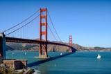 Golden Gate San Francisco and a sailing ship