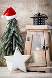 Candlestick. Christmas lantern. Cristmas decoration, greeting ca