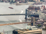 Manhattan and Brooklyn Bridges from the sky