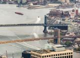 Manhattan and Brooklyn Bridges from the sky