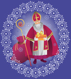 St. Nicholas. Design greeting cards, poster.