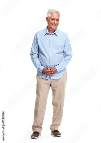 Poster Senior man.