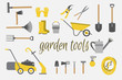 Organic farming. Tools for working in the garden and kailyard. Adaptations for planting, digging ground, irrigation, fertilizer, spraying, weed control, harvesting in the garden