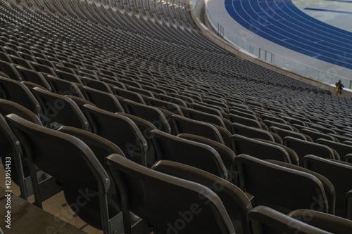 Poster Olympiastadion Berlin - Blick auf die Sitzreihen