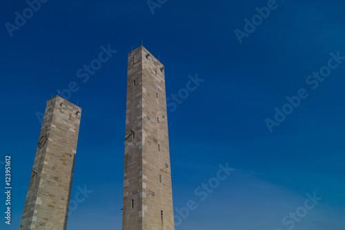 Poster Säulen vor dem Olympiastadion - Berlin