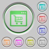 Webshop application push buttons