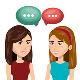 people talking communication icon vector illustration design