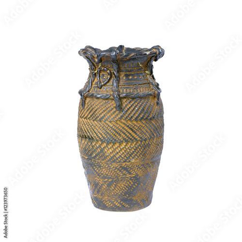Zdjęcia old vase isolated on white