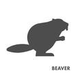 Black vector figure of beaver.