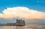 Naples (Campania, Italia) - Characteristic places of the biggest city of south Italy during the summer. Here Castel dell'ovo at sunset