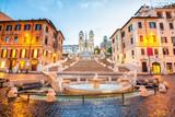Plac hiszpania w Rzymie, włochy