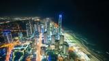4k timelapse video of Gold Coast, Australia at night