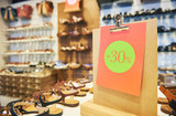 Shopping sale. seasonal 30 percent discount on footwear
