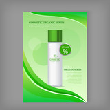 Cosmetic Organic Series Bottle Isolated. Stock