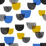 Hand Drawn Seamless Pattern - 123998879