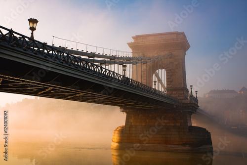Poster Budapest chain bridge