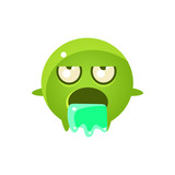 Throwing Up Round Character Emoji