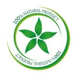 Знак органического продукта. 100% натуральный продукт. Векторная иллюстрация.