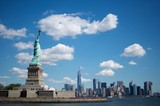 Statue of liberty and the nyc skyline - 124029687