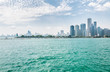 Landscape of lake Michigan and Chicago downtown view from the Navy Pier, USA
