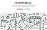 From Farm to Fork - line design website banner
