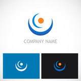 point curve abstract company logo