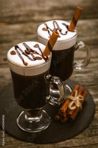 Poster Glass of Irish coffee