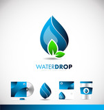 Water drop  logo icon design