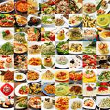 collage di differenti primi piatti della cucina italiana