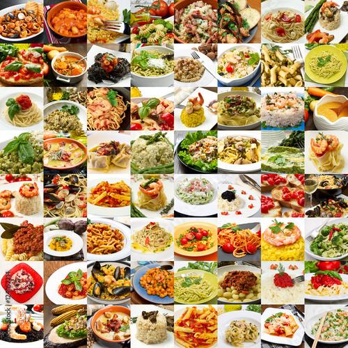 Collage di differenti primi piatti della cucina italiana for Primi piatti cucina romana