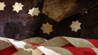 Usa flag. Chart Waves Stars and Stripes