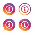 Information sign icon. Info symbol.