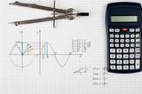 Sine function - maths background  - 124059645