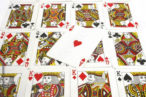 Poster Spielkarten, Poker, Skat