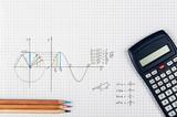 Sine function - maths concept - 124060259