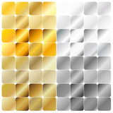 Golden and Silver Gradient Pattern Template Collection Set Vecto