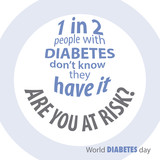 information about diabetes in blue text white background