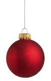 Fototapety red christmas ball over white background