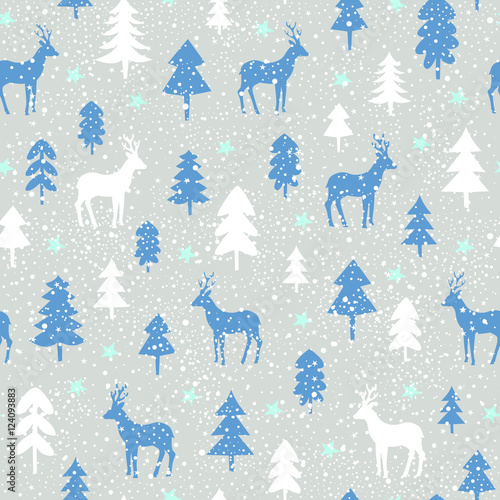 Materiał do szycia seamless christmas pattern