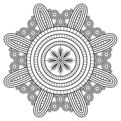 Mandala pattern. Coloring book pages print.