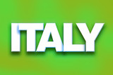 Italy Concept Colorful Word Art
