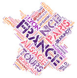 France top travel destinations word cloud