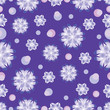 Materiał do szycia Snow pattern on a purple background. Seamless pattern. The cold color palette. Design for textiles, tableware, wrapping paper, covers, and cases.