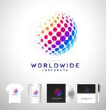 Dots Sphere, Dots Vector Logo