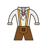 German traditional male costume vector illustration design