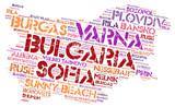 Bulgaria top travel destinations word cloud