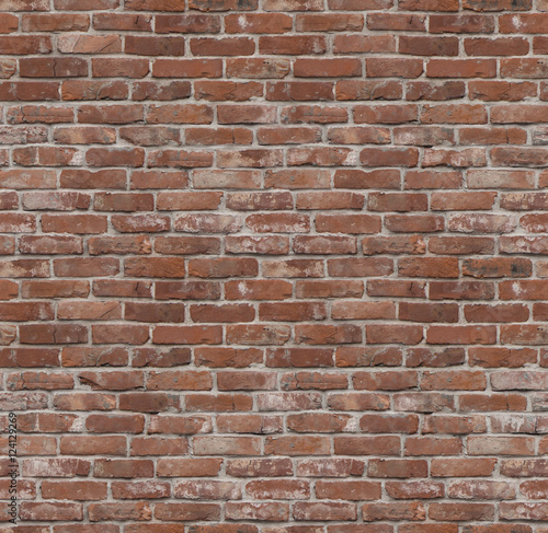 Seamless old brick wall texture or background