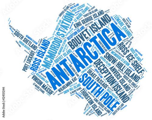 Antarctica top travel destinations word cloud