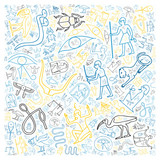 colorful egyptian hieroglyphics